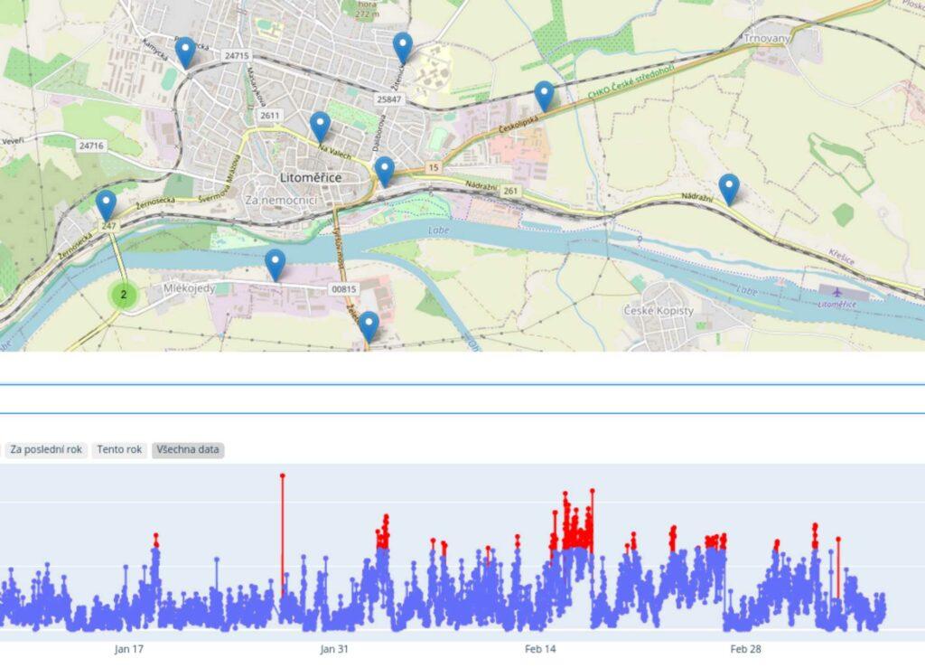 graf a mapa ovzduší